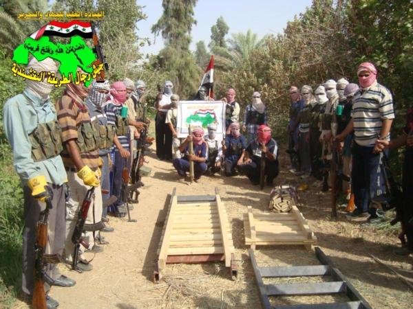 جيش رجال الطريقة النقشبندية قصف مقر للعدو الامريكي بصاروخ الحق بتاريخ 28-10-2012 008