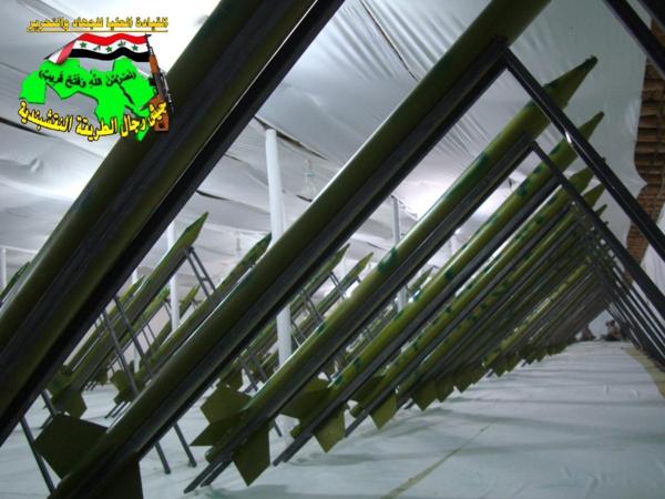 جيش النقشبندية قصف مقر للعدو الامريكي بصاروخي النذير بتاريخ 14-2-2013 188