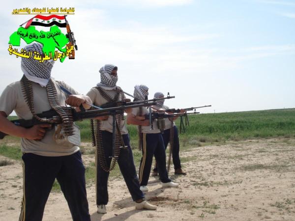 جيش رجال الطريقة النقشبندية قصف مقر للعدو الامريكي بصاروخي الحق بتاريخ 13/9/2012 231