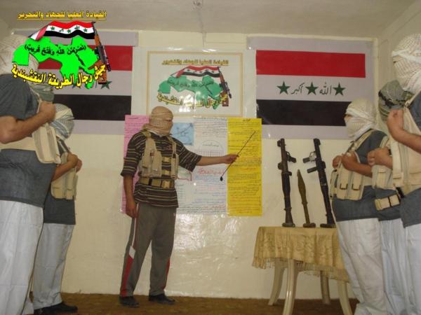جيش النقشبندية قصف مقر للعدو الامريكي بصاروخي الحق بتاريخ 7-1-2013 267