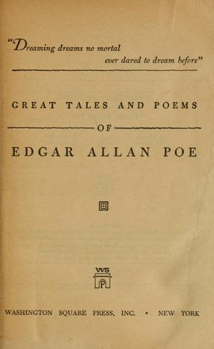 Download Great tales and poems of Edgar Allan Poe