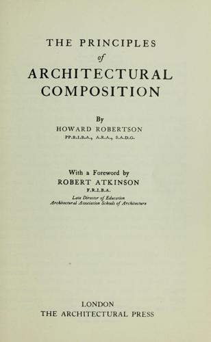 Download The principles of architectural composition