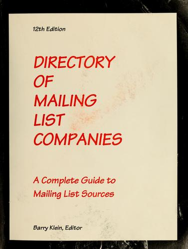 Download Directory of Mailing List Companies