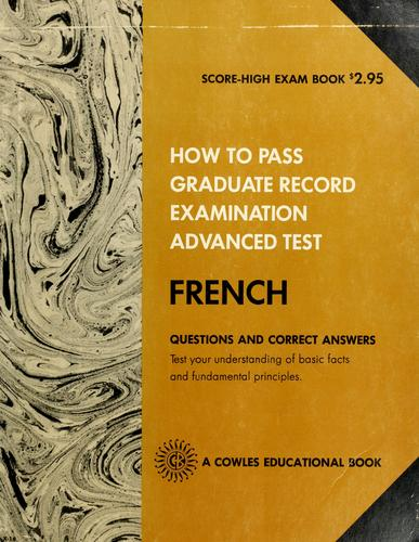 Download How to pass graduate record examination
