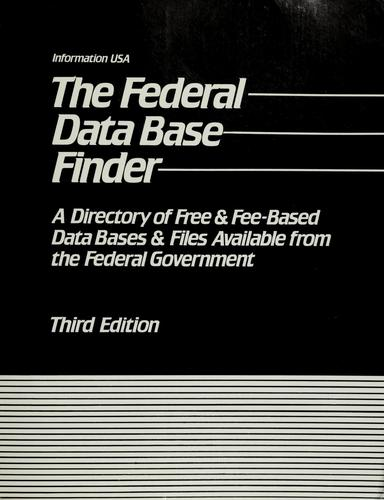 The  federal data base finder