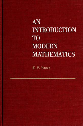 Download An  introduction to modern mathematics.