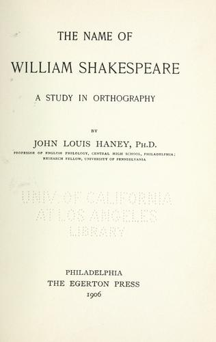 Download The name of William Shakespeare