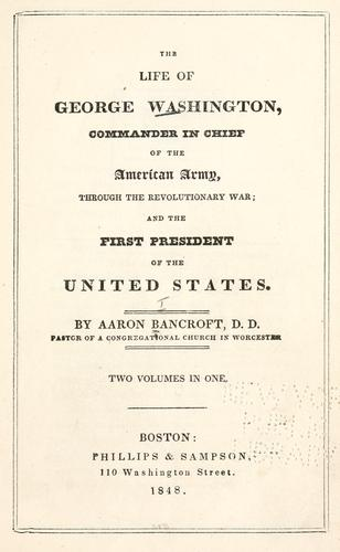 The life of George Washington ….