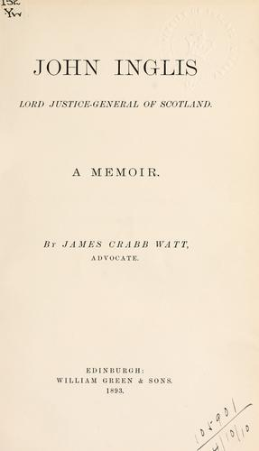 Download John Inglis, Lord Justice-General of Scotland