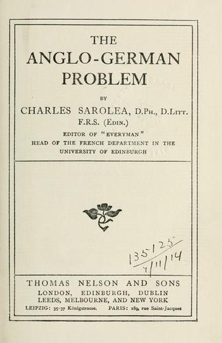 Download The Anglo-German problem.