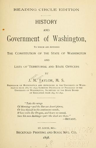 Download History and government of Washington