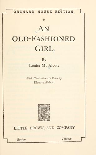 Download An old-fashioned girl.