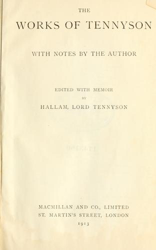 Works by Alfred, Lord Tennyson