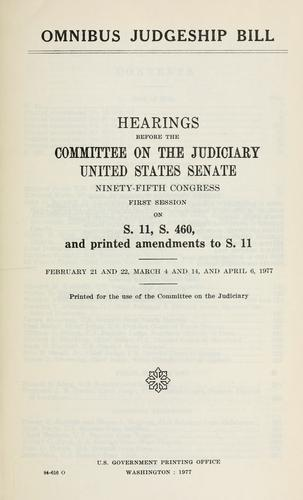 Download Omnibus judgeship bill