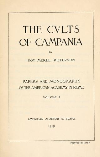 The cults of Campania