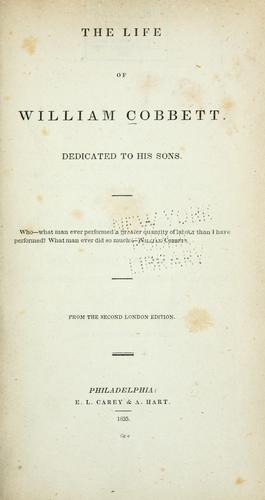 The life of William Cobbett