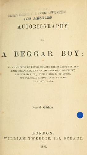 Autobiography of a beggar boy.