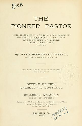 The pioneer pastor