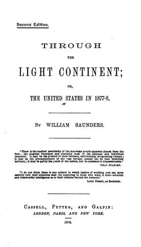 Download Through the light continent; or, The United States in 1877-8.