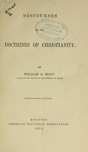Discourses on the doctrines of Christianity.