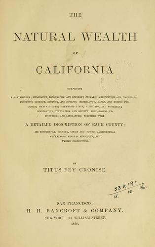 Natural wealth of California
