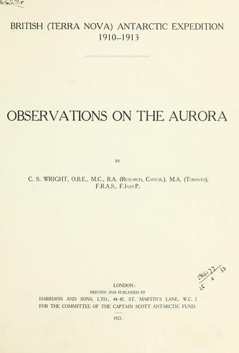 Observations on the aurora.
