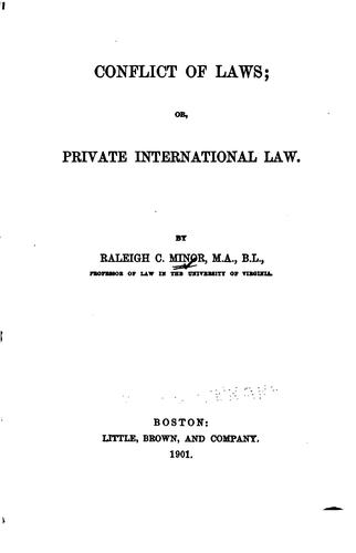 Download Conflict of laws, or, Private international law