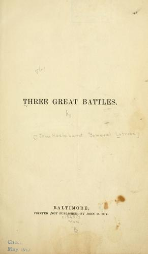 Download Three great battles.