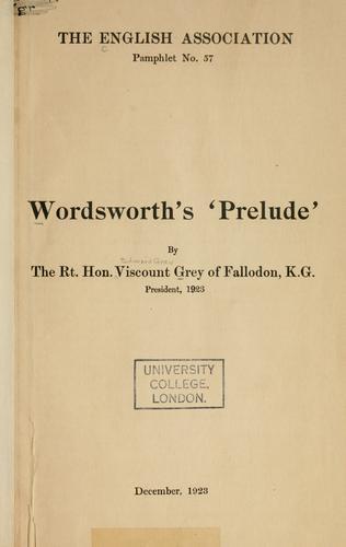 Download Wordsworth's 'Prelude'.