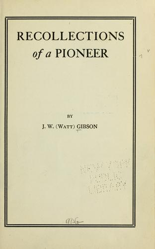 Download Recollections of a pioneer