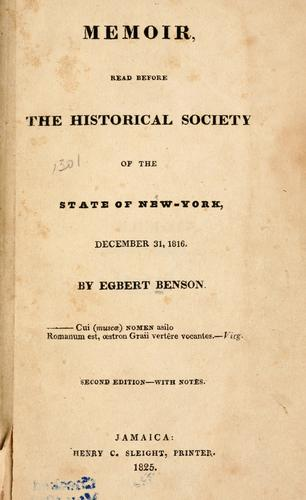 Download Memoir read before the Historical Society of the State of New-York, December 31, 1816