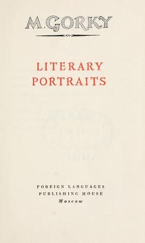 Download Literary portraits.