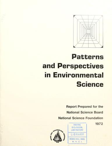 Patterns and perspectives in environmental science