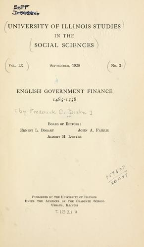 Download English government finance, 1485-1558