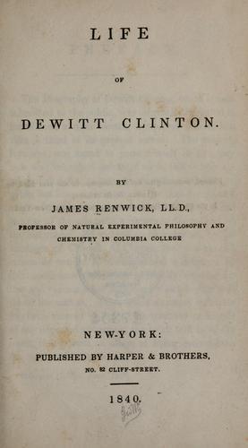Life of Dewitt Clinton