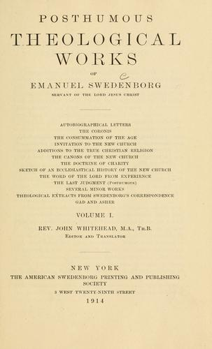 Download Posthumous theological works of Emanuel Swedenborg