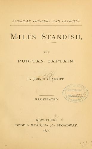 Miles Standish, the Puritan captain.