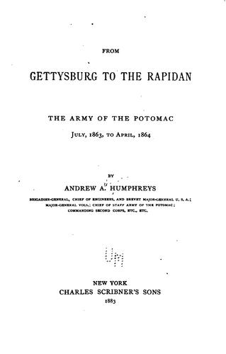 From Gettysburg to the Rapidan.