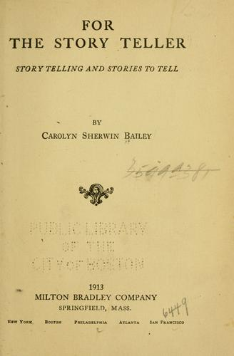 Download For the story teller