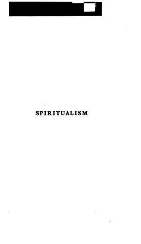 Download Spiritualism