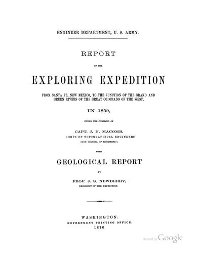 Report of the exploring expedition