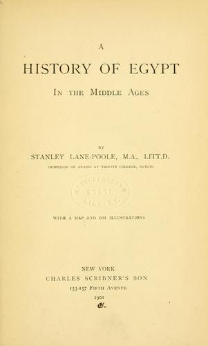 A history of Egypt in the Middle Ages