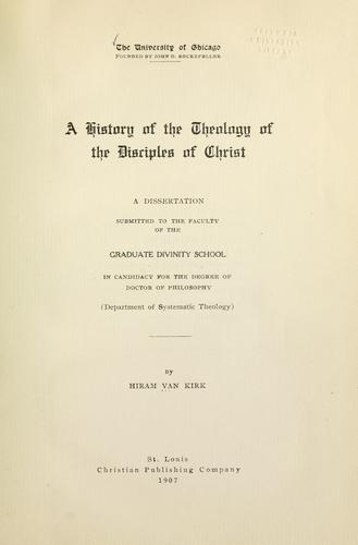 Download A history of the theology of the Disciples of Christ.