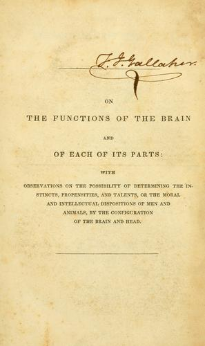 On the functions of the brain and of each of its parts