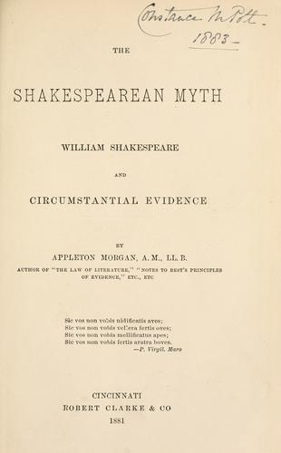 Download The Shakespearean myth