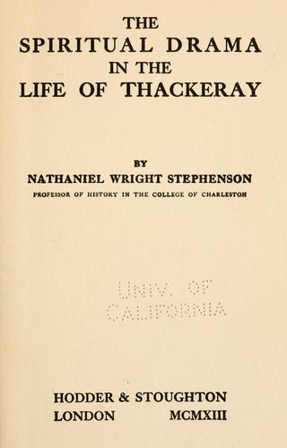 Download The spiritual drama in the life of Thackeray