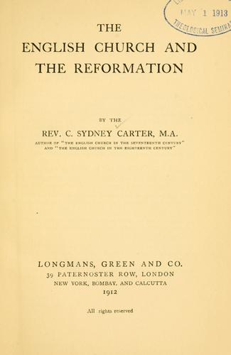 Download The English church and the reformation