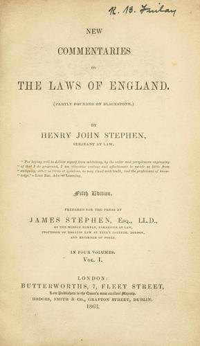 Download New commentaries on the laws of England