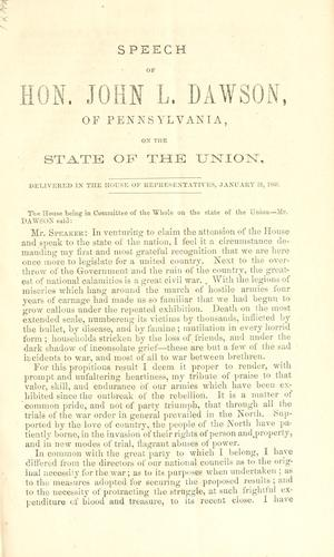 Download Speech of Hon. John L. Dawson, of Pennsylvania
