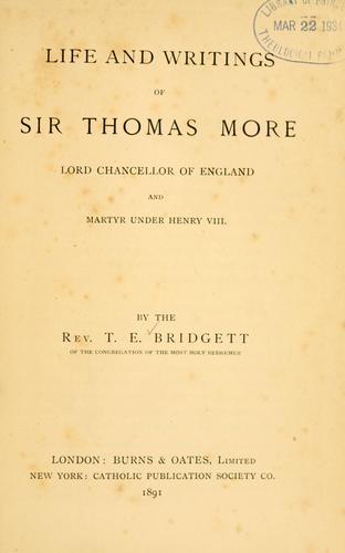 Life and writings of Sir Thomas More